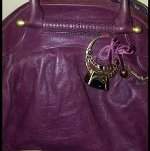 Authentic Juicy Couture Burgundy Leather Purse